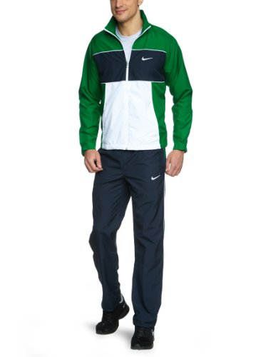 Pine Block (NIKE Herren Trainingsanzug Classic Woven Color Block U, pine green/dark obsidian/white/white, S, 481394-302)