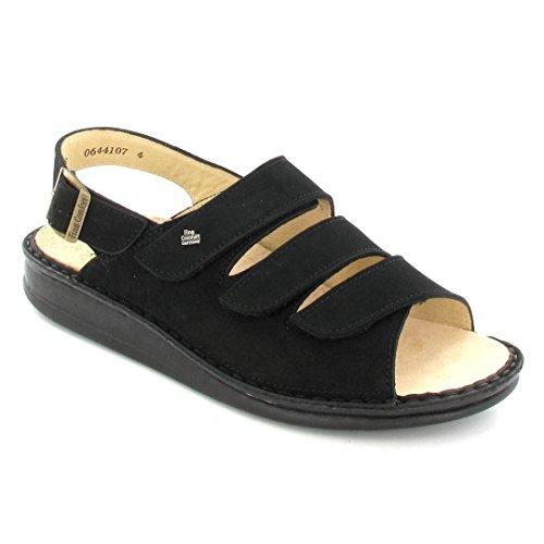 Finn Comfort Womens 2509 Sylt Nubuck Sandals Noir - Noir