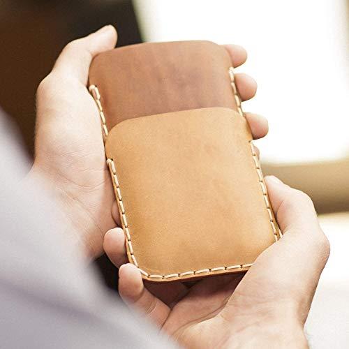 Marrone chiaro, Marrone scuro custodia a guscio per Samsung Galaxy Note 10+ in cuoio con 1 porta carta di credito e banconote verticale portacellulare cover case caso