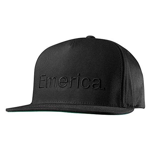 Emerica Erwachsene Cap Pure Snapback Kappe, Black/Black, One Size