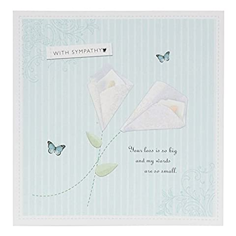 Caractéristique de condoléances contemporain-carte en forme de coeur avec strass