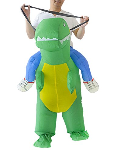 THEE Disfraces Inflable de Dinosaurio Traje Hinchable para Halloween