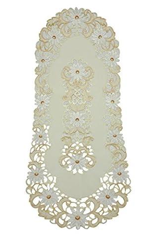 bellanda 80247–40x 100ovale de table Polyester 85x 40x 0,50cm, écru