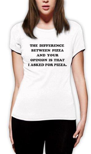 Ich fragte nach Pizza Frauen T-Shirt Weiß