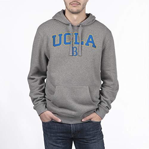 eLITe NCAA Herren Kapuzenpullover, Dunkelgrau, Herren, Hoodie Sweatshirt Dark Charcoal Gray, Dunkles Erika, XX-Large - Ucla-t-shirt Jersey