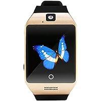 JiaMeng Reloj Elegante del Tel¨¦fono de la Tarjeta del TF de la c¨¢mara del G/M del Reloj Elegante de Q18 Bluetooth para Android