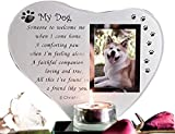 Special Dog vetro placca commemorativa tomba ornamento con poesia candela photo Holder for Remembrance