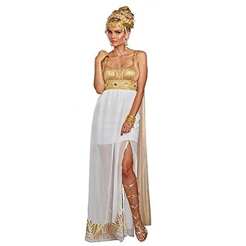 Damen Kostüm Athena Gr. XL Kleid weiß/gold Griechin Fasching Römerin Minerva (Götter Göttinnen Kostüme)
