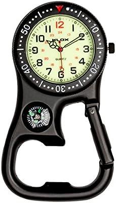 uwantit negro Samsung Galaxy S3MINI i8190Luminoso reloj de bolsillo de mosquetón con brújula para médicos enfermeras paramédicos Chefs