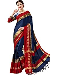 Vatsla Enterprise Women's Soft 100 % Silk Saree With Blouse Piece