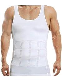 4117d57e3b8ea Favourite Deals Imported Cotton Men s Shapewear Body Shaper Vest with  Sliming Belt Chest Waist Belly Underwear