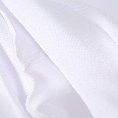 Sunenjoy Sweat Shirt Hooded Sports Femme Fille Automne Tops à Manches Longues Dames Hiver Applique Broderie Rayé Coton Sweats à capuche Blouson Casual Pull Elegant Chemisier Streetwear Blanc