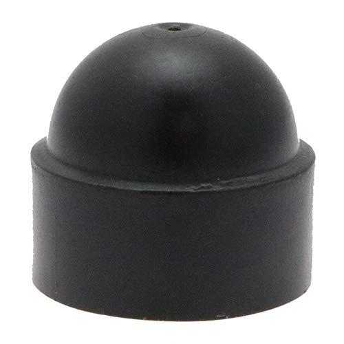 10 x 1/4 Écrou et boulon Écrou de protection Caps - Noir, Caps, hexagonale caches