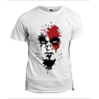 white round neck tshirt for men - God of war