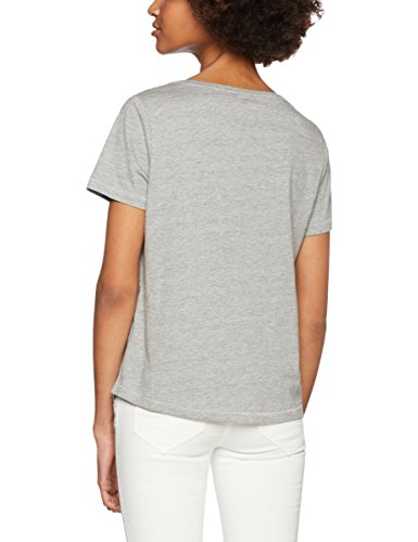 ONLY Damen T-Shirt Onlalba S/S Print Attack Top Box ESS Grau (Light Grey Melange Print:Cat)