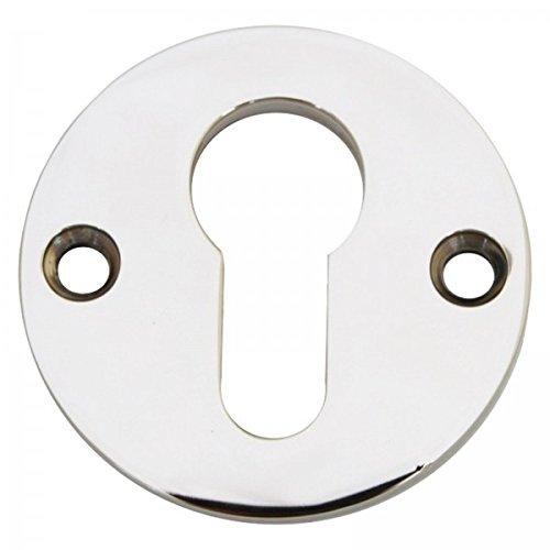 PZ Schlüssel Rosette einzeln Rund Profilzylinder Tür Schloss poliertem - Nickel Rosette
