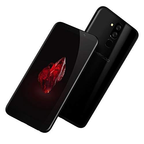 Huhu833 Smart Handys, MEIIGOO S8 Smartphone 6.1'' Ultrathin Android 7.0 Octa-Core RAM 4 GB Dual-IMEI GPS WiFi intelligentes Mobiltelefon (Schwarz)