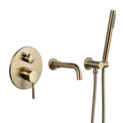 rhahn, Faucet Mixer, Badewannen-Wall-montierter Hot and Cold Faucet, Badewannen-Side-Wall-montierter Hidden Faucet ()