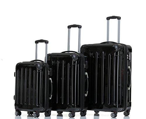 Beibye ruedas Gemelas de 2048Maleta rígida Maleta viaje en m L XL Juego de colores en 14, negro