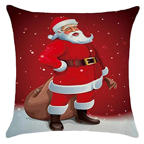 Dragon868 Santa Claus pattern square pillow Festival special decorations Send friends gifts Family sofa car office pillow Comfortable cushion