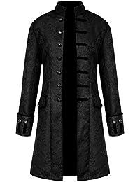 17a13d12f343b ROBO Veste Costume Gothique Homme Manteau Steampunk Slim Fit Halloween  Mariage Déguisement