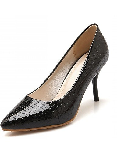 WSS 2016 Chaussures Femme-Bureau & Travail / Habillé / Décontracté-Noir / Rouge / Blanc-Talon Aiguille-Talons-Chaussures à Talons-Microfibre red-us9 / eu40 / uk7 / cn41