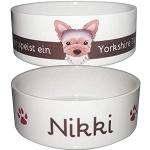 Hundenapf mit Name | Yorkshire, Mops, Bulldogge oder Chihuahua