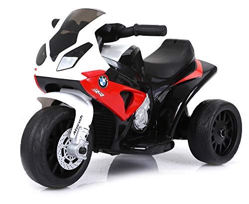 giordanoshop Moto Motocicletta Elettrica per Bambini 6V BMW Rossa
