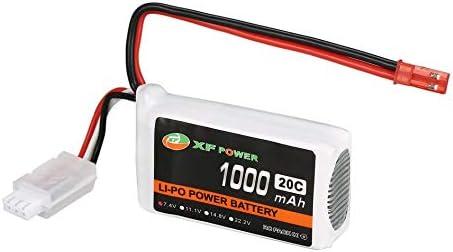 Mountxin Mountxin Mountxin XF Power 7.4V 1000mAh 20C 2S Lipo Batterie JST Plug pour RC Drone Hélicoptère Voiture - Blanc & Noir   Pas Cher  4bc7c1
