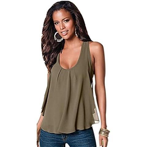 Tops Mujer, Amlaiworld Casual camisetas sin mangas floja de la gasa sin mangas de la blusa del chaleco