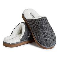Dunlop Tofflor för män, fluffiga minnesskum tofflor för män, ullliknande fleecefodrade tofflor, inomhus utomhus halkfria husskor, gåvor för män tonårspojkar