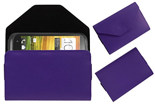 Acm Premium Pouch Case For Htc Desire V Flip Flap Cover Holder Purple  available at amazon for Rs.329