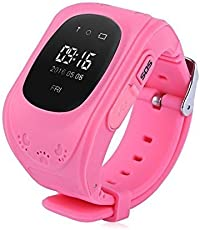 SYL Plus Q50 Kids Smart Watch | Smart Wrist Watch With GPS Tracker and Sim Support System | Tracker Functions Of Kids Safety | Calling Function |Compatible with All 3G and 4G Android & IOS Smart phones (Pink)