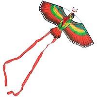 VORCOOL Cometas de Loros Rojos para niños encantadores de Dibujos Animados a los niños pequeños Les encantan Las Cometas de Animales con una línea de Vuelo de 50 m (Rojo)