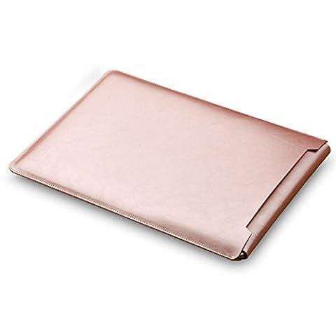 Mikrofaser Leder Laptop Sleeve Slim Case Cover Luxus PU Ledertasche Elagant Schutzhülle integriert Mousepad f. Macbook Air und Macbook Pro & Pro Retina 13,3