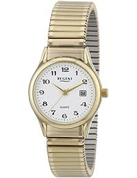 Regent Damen-Armbanduhr XS Analog Edelstahl beschichtet 12300076