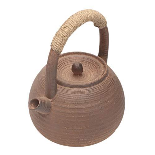Teapot Boiled Tea Pot Kettle Kettle Tea Household Ceramic Tea Kettle Tea Ceremony Accessories Single Pot Quart Flame Top