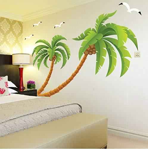 Hohe Qualität Größe Strand Palmen Kokospalme Wasserdichte Vinyl Aufkleber Wohnzimmer Kinderzimmer Wandaufkleber