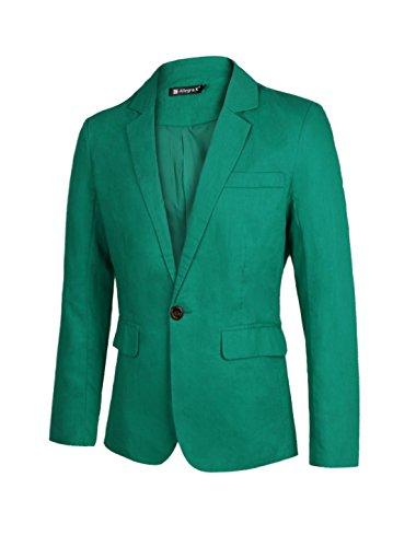 sourcingmap Blazer Blazer Maniche Lunghe Uomo Verde Green