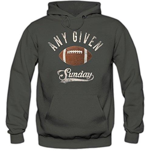 Shirt Happenz Any Given Sunday An jedem verdammten Sonntag Hoodie Herren Super Bowl American Football Hoodies NFL Kapuzenpullover, Farbe:Dunkelgrau;Größe:L