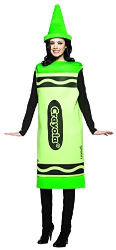 Rasta Imposta Crayola zeichnet - Adult Female Kostüm - Grün
