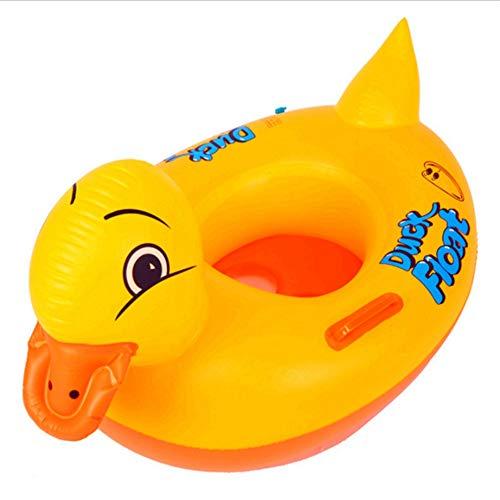 Baby-Schwimmring Aufblasbare Gummiente Pool Float for Kinder Schwimmbad Schwimmt Boot Sitze Baby Dusche Bad Sitz Badewanne Wasser Spaß Spiele Spielzeug for 1 Jahr Alt Bis Kleinkind Schwimmsitz aufblas - Pvc-dusche-bett