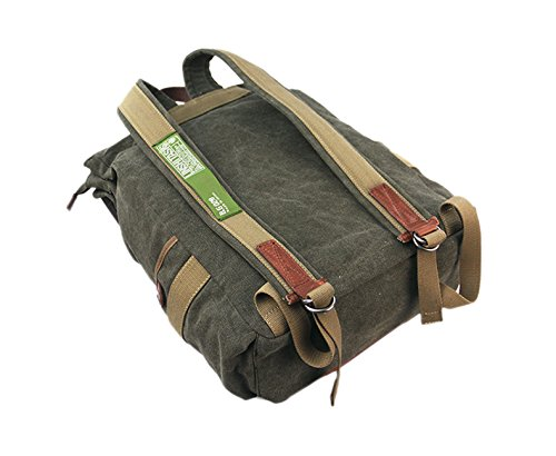 YAAGLE Retrotasche Canvas Segeltuch Taschen Rucksack Gepäck Damen und Herren Unisex Reisetasche Sporttasche Schultasche-armee-grün armee-grün