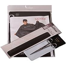 Kyoto Scissors–Set simple by luqx 3piezas: tijeras de pelo fabricado en Alemania & Pegasus universal cortar pelo peine de caucho natural & Moser capa de peluquería (Edición Limitada)