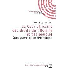La Cour africaine des droits de l'Homme et des peuples: Étude à la lumière de l'expérience européenne (Droit et Sciences politiques)