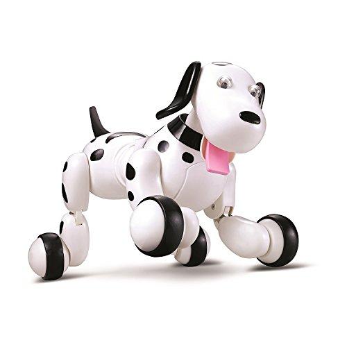 Dulcii RC Space Walking Dog 2.4G Wireless Remote Control Smart Dog Electronic Pets Interactive Puppy Toy Dog Xmas Christmas Birthday Valentine Gift For Kids, Children,Girls, Boys (Black)