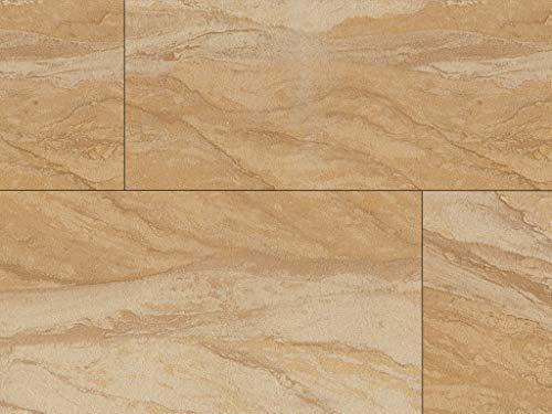 Echte Flexible Sandstein Fliesen Yellow River als Wandverkleidung innen + Fassadenverkleidung außen, Sandsteintapete, Messebau (Sandstein-Fliese, 300 x 200 x 2 mm (1 Muster)) (Gerber Foto)