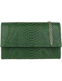 555a5a48c Amazon.es: Verde - Carteras de mano y clutches / Bolsos para mujer ...