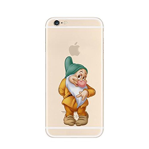 New Disney Seven Dwarfs Clear TPU Soft Case For Apple iPhone 7 SEVEN DAWRF BUSHFULL