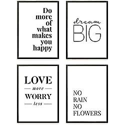 Heimlich® Premium Poster (4 Stück in DIN A4)   Große Auswahl an Motiven im Shop   auch mit Rahmen » Love More «